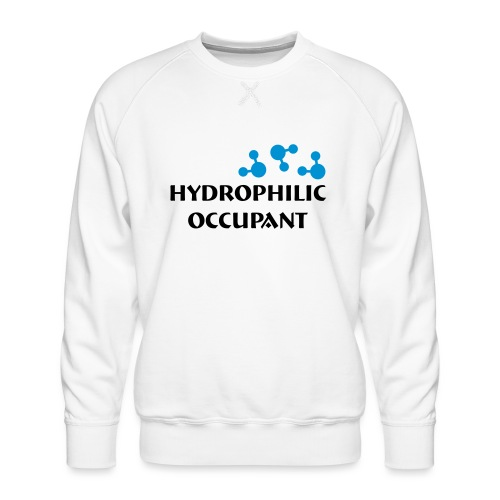 Hydrophilic Occupant (2 colour vector graphic) - Men's Premium Sweatshirt