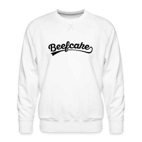 Beefcake text - Miesten premium-collegepaita