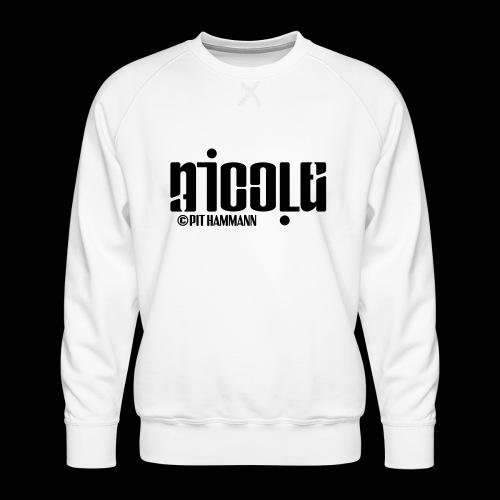 Ambigramm Nicole 01 Pit Hammann - Männer Premium Pullover