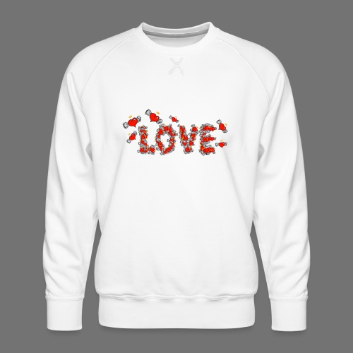 Fliegende Herzen LOVE - Männer Premium Pullover