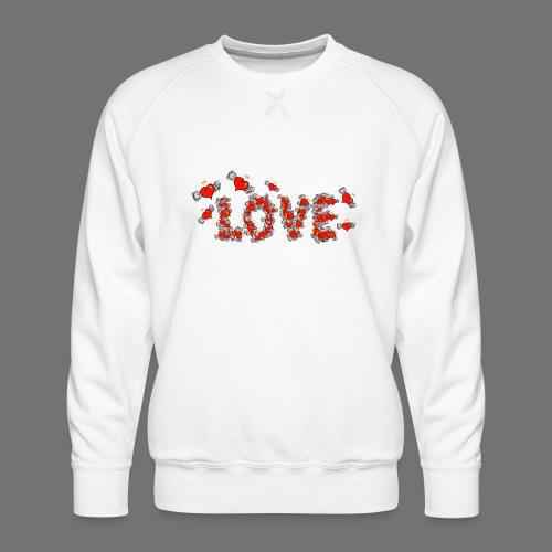 Latające miłości serc - Bluza męska Premium