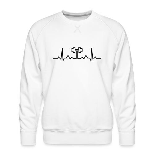 Herzschlag-Hantel, Bodybuilding, Crossfit, Fitness - Männer Premium Pullover