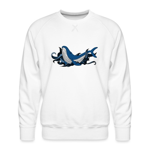 Doodle ink Whale - Felpa premium da uomo