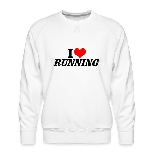 I love running - Männer Premium Pullover
