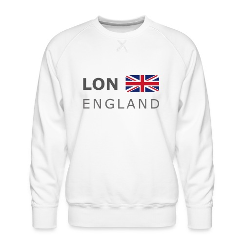 LON ENGLAND BF dark-lettered 400 dpi - Men's Premium Sweatshirt