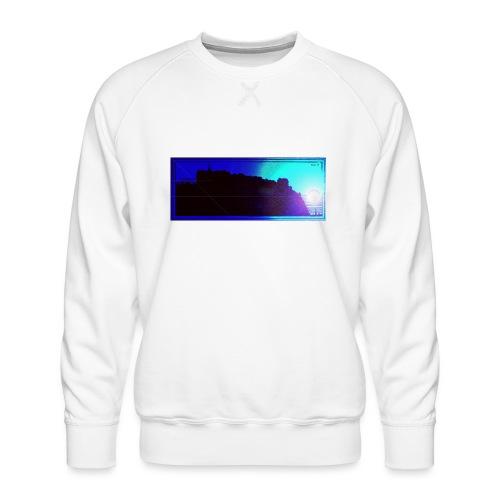 Silhouette of Edinburgh Castle - Men's Premium Sweatshirt
