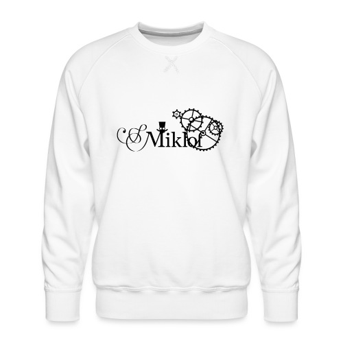 miklof logo black 3000px - Men's Premium Sweatshirt