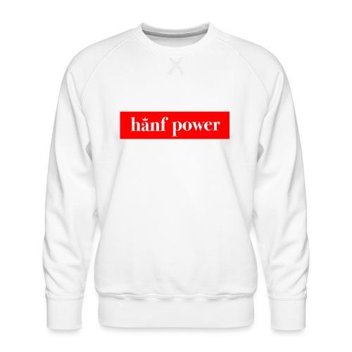 Hanf Power RED - Männer Premium Pullover