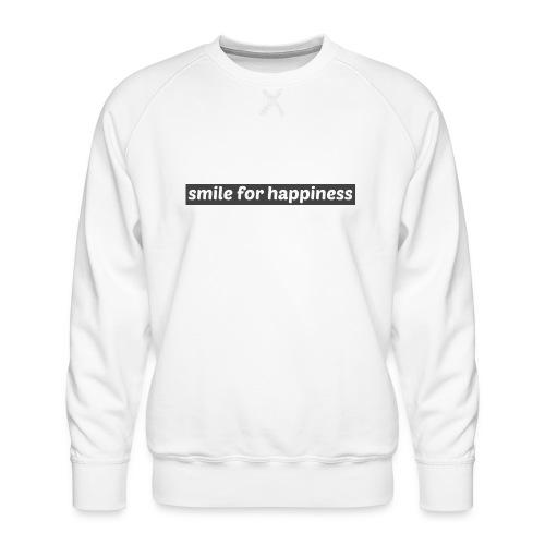 smile for happiness - Premiumtröja herr
