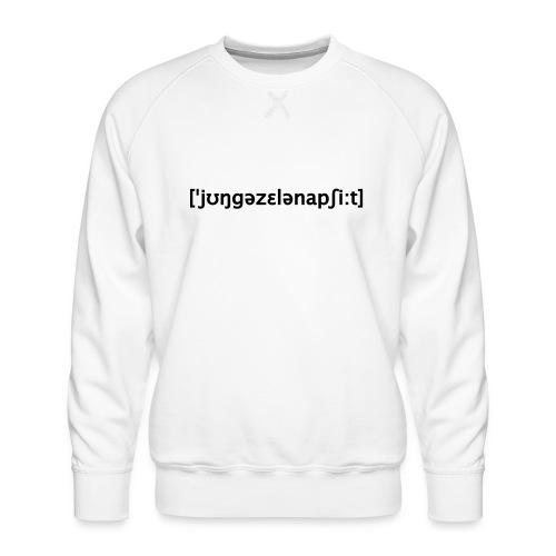 Junggesellenabschied Lautschrift - Männer Premium Pullover