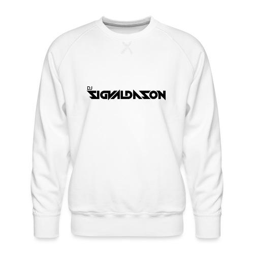 DJ logo sort - Herre premium sweatshirt