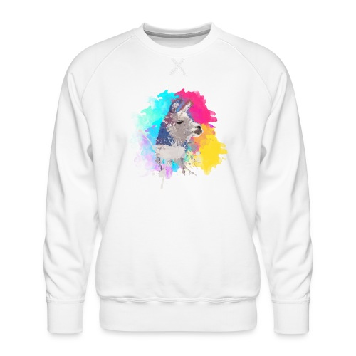 Colorful Llama - Herre premium sweatshirt