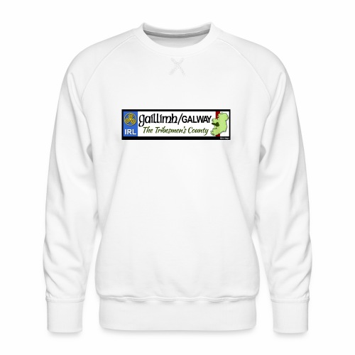 CO. GALWAY, IRELAND: licence plate tag style decal - Men's Premium Sweatshirt