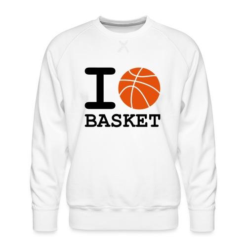 i_love_basket - Sweat ras-du-cou Premium Homme