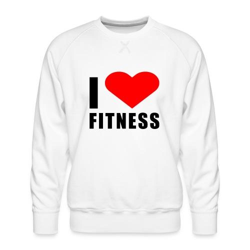 I LOVE FITNESS - Männer Premium Pullover