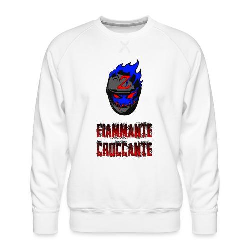 FlamesLogo - Felpa premium da uomo