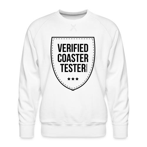 Badge de testeur de montagnes russes vérifié - Sweat ras-du-cou Premium Homme