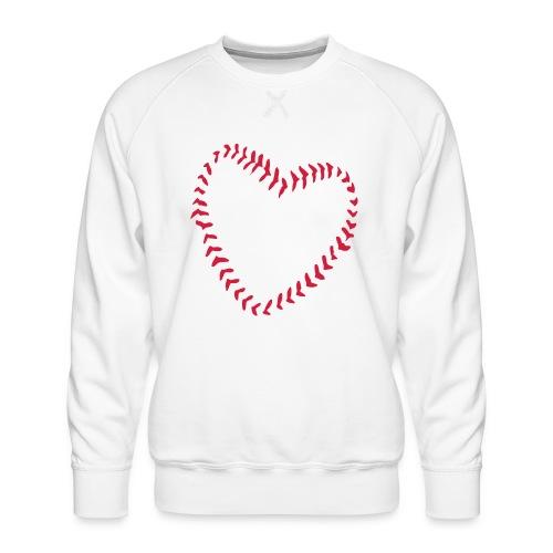 2581172 1029128891 Baseball Heart Of Seams - Men's Premium Sweatshirt