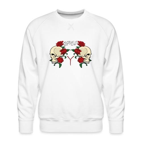 YARD skull and roses - Mannen premium sweater