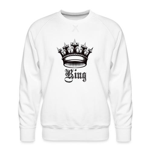 king - Sudadera premium para hombre