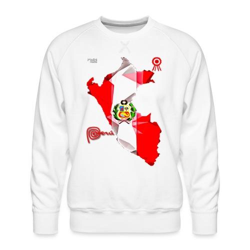 Mapa del Perú, Bandera y Escarapela - Sudadera premium para hombre