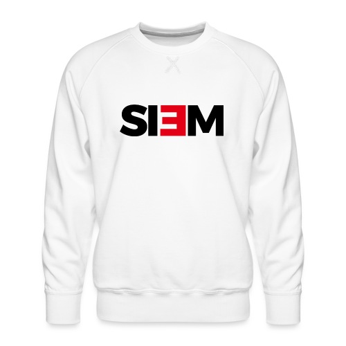 siem_zwart - Mannen premium sweater