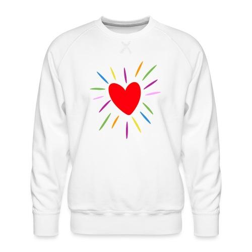 Heart - Sudadera premium para hombre
