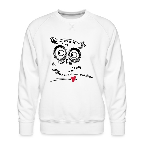 Owl Miss my soldier Vektor - Männer Premium Pullover