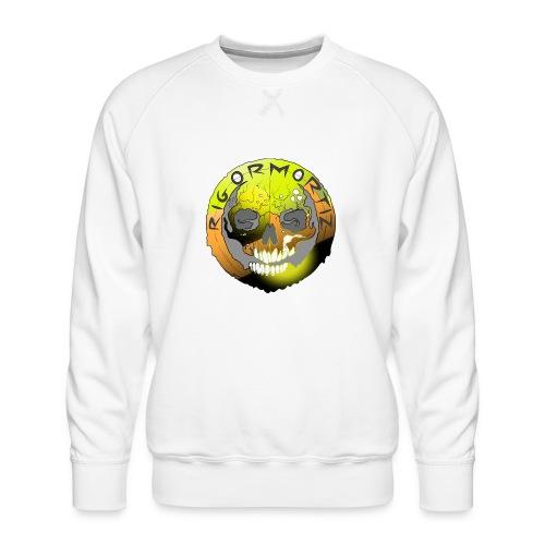 Rigormortiz Metallic Yellow Orange Design - Men's Premium Sweatshirt