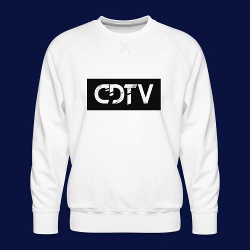 CDTV Box Logo - Men's Premium Sweatshirt