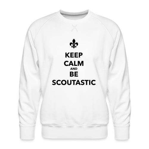Keep calm and be scoutastic - Farbe frei wählbar - Männer Premium Pullover