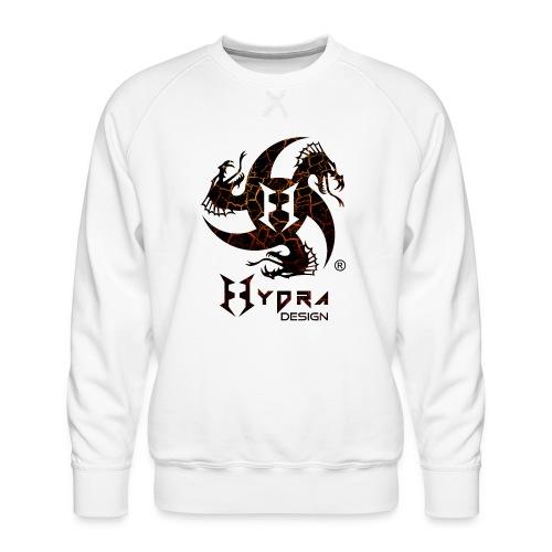 Hydra Design - logo Cracked lava - Felpa premium da uomo