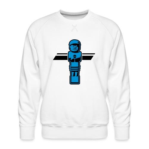 Soccerfigur 2-farbig - Kickershirt - Männer Premium Pullover