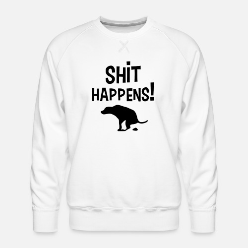 Shit Happens met Hond - Mannen premium sweater