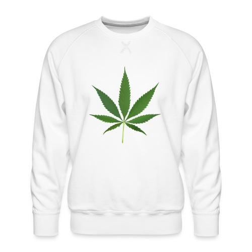 2000px-Cannabis_leaf_2 - Herre premium sweatshirt
