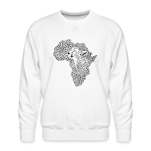 Africa in a cheetah camouflage - Männer Premium Pullover