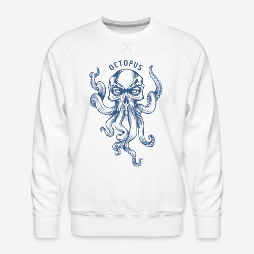 octopus navy sea - Männer Premium Pullover