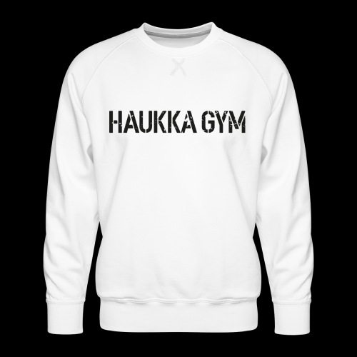 HAUKKA GYM roso text - Miesten premium-collegepaita