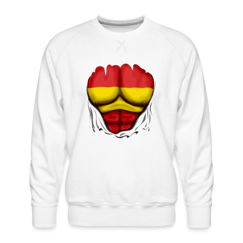España Flag Ripped Muscles six pack chest t-shirt - Men's Premium Sweatshirt