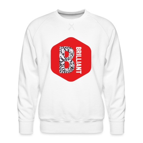 B brilliant red - Mannen premium sweater