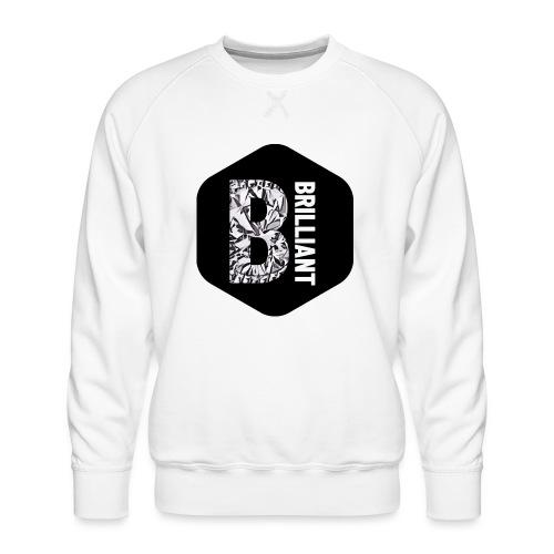 B brilliant black - Mannen premium sweater