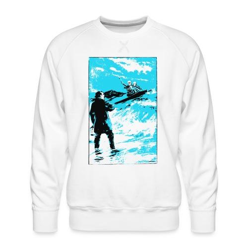 surfer skeletons - Sudadera premium para hombre
