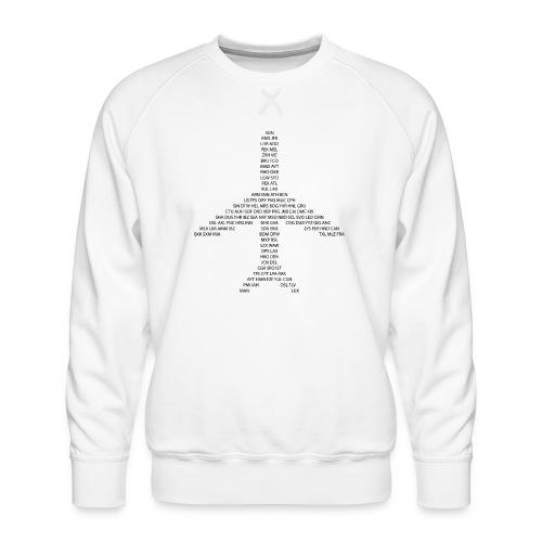 Samolot IATA Codes - czarny - Bluza męska Premium
