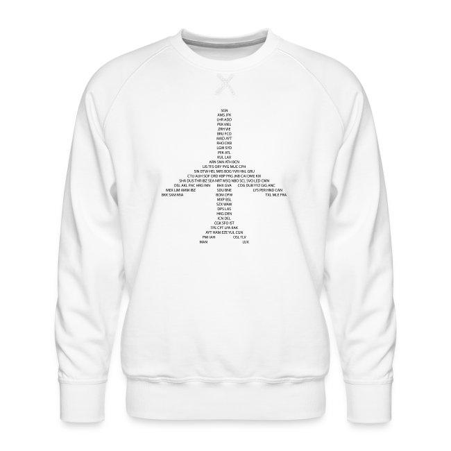 IATA-koodit lentokone - musta