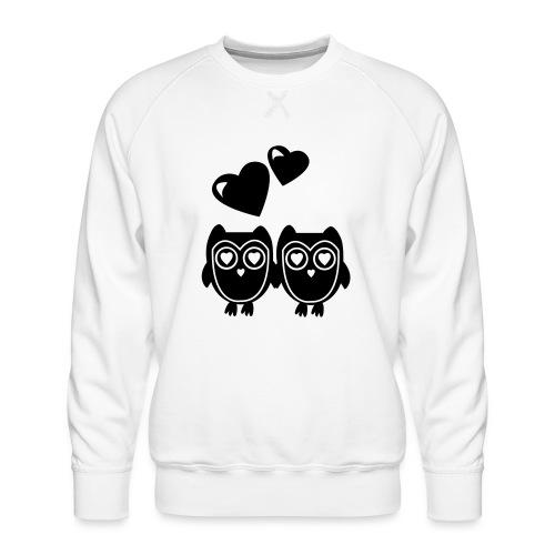 verliebte Eulen - Männer Premium Pullover