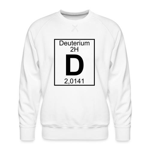 D (Deuterium) - Element 2H - pfll - Men's Premium Sweatshirt