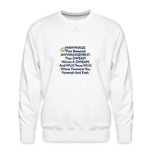 Mawwiage (blue) - Men's Premium Sweatshirt