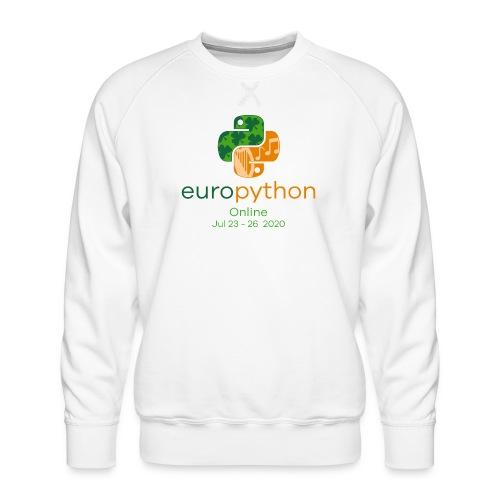 EuroPython 2020 - Vertical Color Logo - Men's Premium Sweatshirt