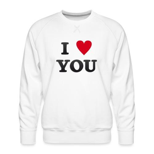 I love you - Premium-genser for menn