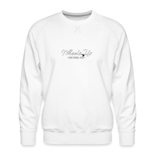 wheels up black figure - Men's Premium Sweatshirt